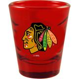 Chicago Blackhawks Team Color Swirl Collector Glass Cup