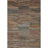 Justina Blakeney x Loloi Chalos Abstract Charcoal Area Rug Polypropylene in Gray, Size 72.0 H x 48.0 W x 0.44 D in | Wayfair CHALCHA-09CCML4060
