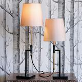 Brooklyn Black and Brass Adjustable Table Lamps Set of 2