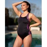 Racer Back Maternity Swimsuit - Blue - Seraphine Beachwear
