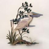 White Heron Wall Sculpture, Facing Left, White