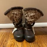 Coach Shoes | Authentic Coach Brown Holliway Boots Size 7 | Color: Brown | Size: 7