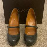 Gucci Shoes   Gucci Platform Mary Jane Heels   Color: Gray   Size: 7.5