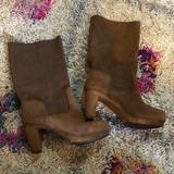 Anthropologie Shoes   Anthropologie Sanita Danish Clog Boots Leather 40   Color: Brown   Size: 9
