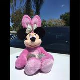 Disney Toys   Easter Bunny Rabbit Minnie Mouse Stuffed Plush Toy   Color: Pink   Size: 18 Inch