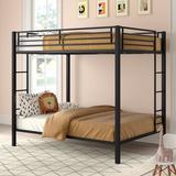 Mack & Milo™ Full Over Full Standard Bunk Bed in Black, Size 72.0 H x 56.5 W x 78.5 D in | Wayfair 332F732A7A1D492FB695BC75CE5B3FAB