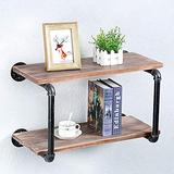 Floating Shelves for Wall Industrial Pipe Shelving,Rustic Pipe Shelves with Wood Iron Pipe Shelf,Bar Wall Shelves Hanging Book Shelves,Metal Floating Shelf Wall Mounted Bookshelf Unit(2 Tier,24in)