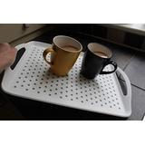 The Ultimate Non Slip Spill White Tv Bed Dinner Lap Tea Drinks Serving Tray Disability Kids (Large: 45.5cm x 32cm)