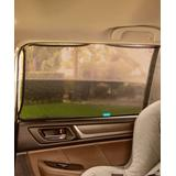 Brica Car Seat Sun Shades and Mirrors - Black Stretch to Fit Magnetic Sun Shade