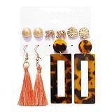 Ladies Fashion Jewelry Earrings Creative Tassel Earrings Bohemian Flower Earrings Girls Jewelry-1