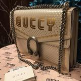 Gucci Bags | Gucci Dionysus Michel Cornice Stella White Bag | Color: Gold/White | Size: Length: 11.5 Height: 8 14 Depth: 2.5