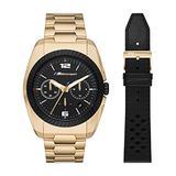 BMW Men's M Motorsport Quartz Watch with Stainless Steel Strap, Gold, 22 (Model: BMW9002)