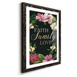 Winston Porter Faith Family Love - Picture Frame Textual Art Print on Paper Metal in Brown/Green/Red, Size 32.0 H x 23.0 W x 1.0 D in | Wayfair