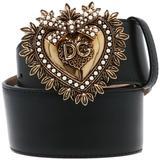 Dg Sacred Heart Buckle Belt - Black - Dolce & Gabbana Belts