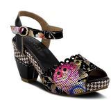 Jivvi Platform Sandal - Black - Spring Step Heels