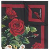 Floral Print Foulard - Red - Dolce & Gabbana Scarves