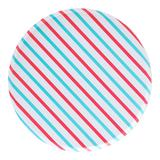 Oh Happy Day Paper Party Dessert Plates 8-Count, Red