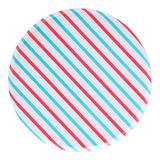 Oh Happy Day Paper Party Plates 8-Count, Red