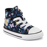 Baby / Toddler Girls' Converse Chuck Taylor All Star 1V Butterfly Forest High-Top Sneakers, Toddler Girl's, Size: 9 T, Black