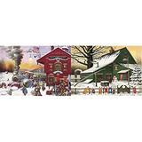 "Buffalo Games - Charles Wysocki - Whistle Stop Christmas - 500 Piece Jigsaw Puzzle & Games - Charles Wysocki - Cocoa Break at The Copperfields - 500 Piece Jigsaw Puzzle Multi, 21.25"" L X 15"" W"