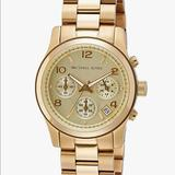 Michael Kors Accessories   Michael Kors Runway Chronograph Gold Watch   Color: Gold   Size: Os