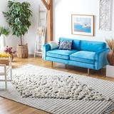 Dakota Fields Striped Handmade Flatweave Wool/Cotton Ivory/Area Rug Cotton/Wool in Black, Size 48.0 H x 72.0 W x 0.31 D in   Wayfair