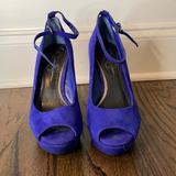 Jessica Simpson Shoes | Blue Platform Wedges | Color: Blue | Size: 7
