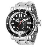 Invicta Men's Disney Limited Edition Mickey Mouse Quartz Watch with Stainless Steel Strap, Silver, 26 (Model: 35071)