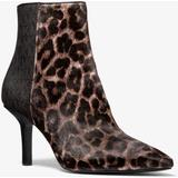 Katerina Leopard Print Calf Hair And Logo Ankle Boot - Brown - Michael Kors Boots