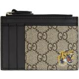 Tiger Print Card Case - Natural - Gucci Wallets