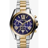 Oversized Bradshaw Two-tone Watch - Blue - Michael Kors Watches
