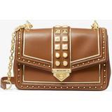Soho Large Studded Leather Shoulder Bag - Brown - Michael Kors Shoulder Bags