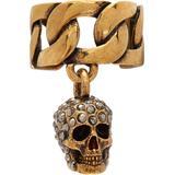 Gold Chain & Skull Ear Cuff - Metallic - Alexander McQueen Rings