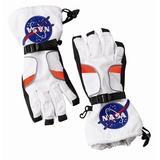 Aeromax Astronaut Gloves, Size Medium, White, with NASA Patches
