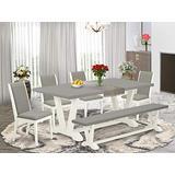 East West Furniture V097LA206-6 Dining Table Set, 72 x 42