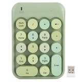 Wireless Numeric Keypad,Wireless Number Pads,2.4G 18 Keys Number Pad, Chocolate Keycap,for Game Direction Switching,for Windows XP/Win7/Win8/Win10,with Receiver(Green)
