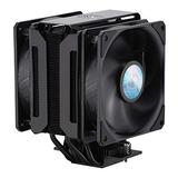 Cooler Master MasterAir MA612 Stealth CPU Air Cooler - Push-Pull SickleFlow 120 V2 Fans, 6 Heat Pipe Array, Unlimited RAM Clearance, Matte Black Finish - Universal Socket Compatibility