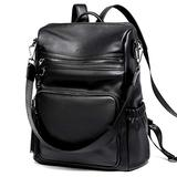CLUCI Backpack Purse for Women Fashion Leather Ladies Travel Bag Anti-theft Large Shoulder Handbags Black