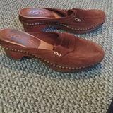 Michael Kors Shoes   Michael Kors Brown Suede Leather Clogs Sz 6   Color: Brown   Size: 6