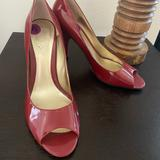 Nine West Shoes   Nine West Red Peep Toe Heels   Color: Red   Size: 8.5