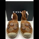 Coach Shoes   Coach Ankle Strap Astor Espadrille W Tea Rose Nwt   Color: Brown   Size: 9.5