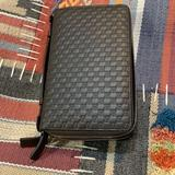 Gucci Bags | Gucci Microguiccissima Double Zip Travel Wallet | Color: Brown/Silver | Size: 8.3x5.1