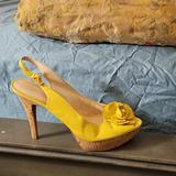 Nine West Shoes   Ladies Sling Back Shoes   Color: Yellow   Size: 12