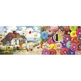 Buffalo Games - Charles Wysocki - Root Beer Break at The Butterfields - 300 Large Piece Jigsaw Puzzle & Games - Aimee Stewart - Coffee and Donuts by Aimee Stewart - 300 Large Piece Jigsaw Puzzle