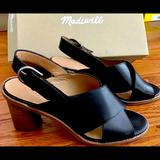Madewell Shoes   Madewell Crisscross Heeled Sandals   Color: Black   Size: 9
