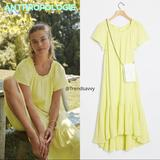 Anthropologie Dresses | Anthropologie Lime Maeve Selah High-Low Maxi Dress | Color: Green/Yellow | Size: Sp