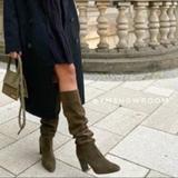 Zara Shoes   Bnwt Zara Knee High Heeled Boots   Color: Green   Size: 9