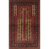 """""""Balouch Colletion Hand-Knotted Lamb's Wool Area Rug- 2'11"""""""" X 4' 9"""""""" - Pasargad Home 043937"""""""