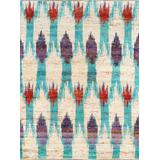 """""""Sari Silk Collection Hand-Knotted Area Rug- 5' 0"""""""" X 8' 0"""""""" - Pasargad Home PBW-839 5X8"""""""