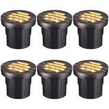 LEONLITE Bronze/Black Integrated LED Aluminium Well Light Aluminium/Metal in Brown/Gray, Size 2.56 H x 4.02 W x 3.96 D in   Wayfair 76048